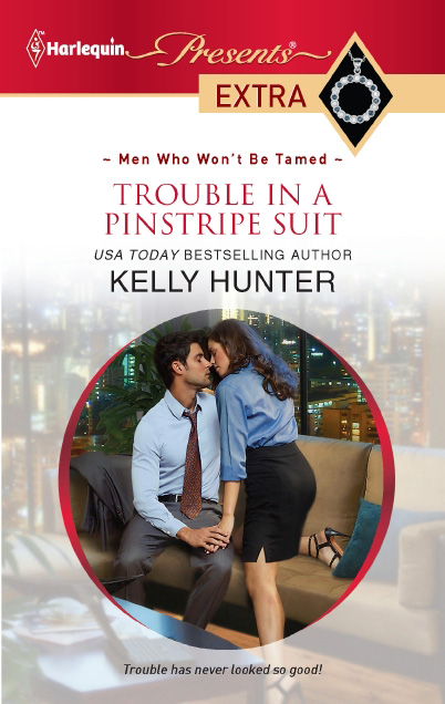 Trouble in a Pinstripe Suit by Kelly Hunter